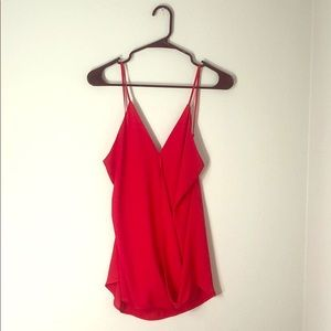 Chic fire red tank
